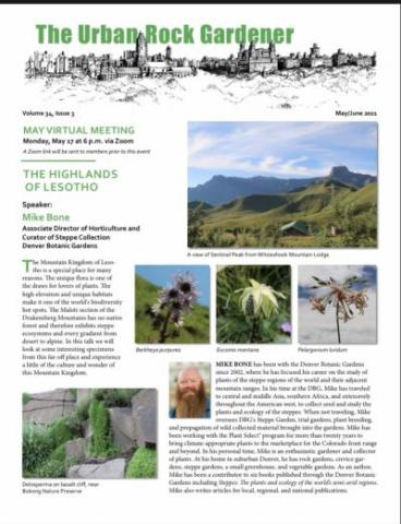 The Urban Rock Gardener May/June